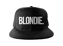 Blondie Cool Swag Hip Hop Druck Snapback Hut Kappe Schwarz -
