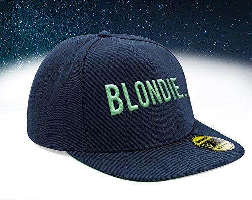 Blondie, Snapback Cap mit Leuchtgarn bestickt, Neon im Dunkeln, 6-Panel, Neuheit! / navy -