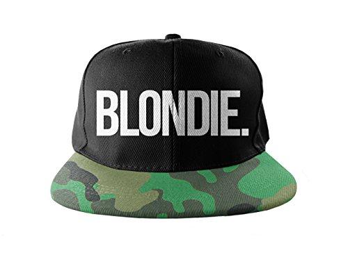 Blondie Tarnung Cool Swag Hip Hop Druck Snapback Hut Kappe Camo -