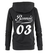 BONNIE 03 STYLE - Damen Hoodie - Schwarz / Weiss Gr. M -