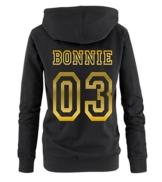 BONNIE COLLEGE 03 - Damen Hoodie - Schwarz / Gold Gr. XXL -