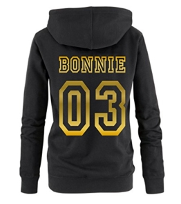 BONNIE COLLEGE 03 - Damen Hoodie - Schwarz / Gold Gr. XXL -