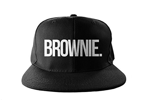 Brownie Cool Swag Hip Hop Druck Snapback Hut Kappe Schwarz -