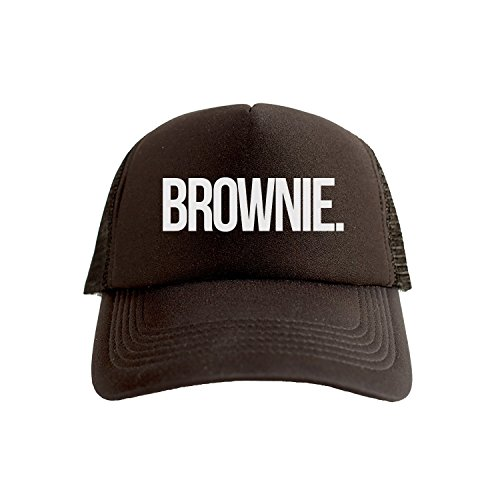 Brownie Cool Swag Hip Hop Druck Trucker Hut Kappe Schwarz -