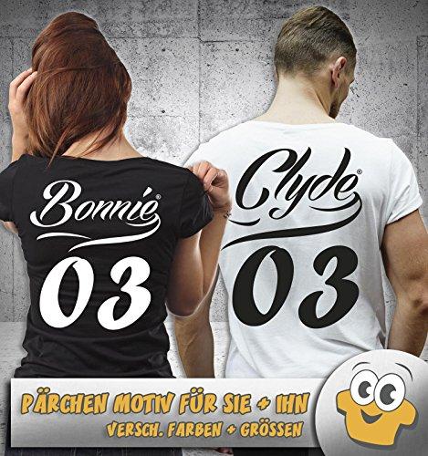 CLYDE 03 MOTIV II - Herren T-Shirt - Schwarz / Weiss Gr. M -