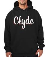 -- Clyde -- Pärchen Boys Kapuzenpullover Schwarz, Größe M Sale F -
