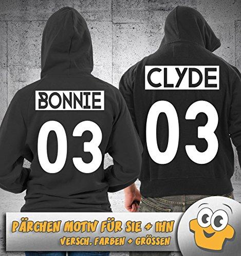 CLYDE SPACE NEGATIV 03 - Herren Hoodie - Schwarz / Royalblau Gr. L -
