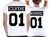 Cold & Heartless Partner Look Pärchen T-Shirt Set Bonnie Clyde für Pärchen als Geschenk (Damen Gr. S + Herren Gr. M) -