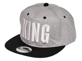 Jewelz&Diamondz verschiedene Farben Unisex Snapback Cap Kappe Cappy Baseball Cap Schirm Mütze King Queen one size verstellbar -