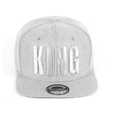 Johnny Chicos Snapback KING & QUEEN Grau Grey Damen Herren Top, Größe:One Size;Farbe:KING -