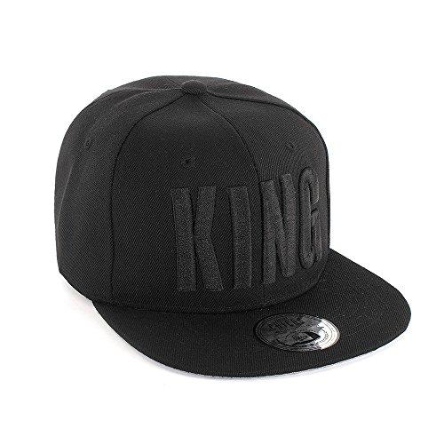 Johnny Chicos Snapback KING & QUEEN Verschiedene Modelle Grau Schwarz Damen Herren Top, Größe:One Size;Farbe:KING Blk Blk -