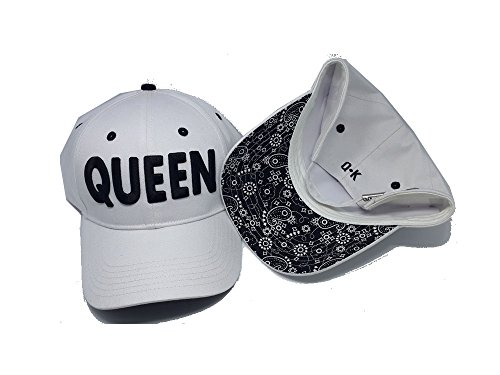 KING & QUEEN BASEBALL CAPS (KING & QUEEN, Weiß) -