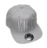 King Queen Snapback Cap Caps Herren Damen (King gray) -