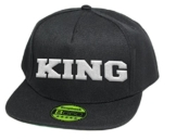 King, Snapback Cap, 5 Panel / Pureblack -
