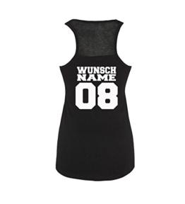 Luckja Wunschname und Wunschnummer Damen Tanktop -