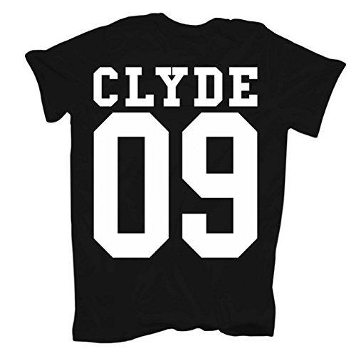 Männer und Herren T-Shirt Bonnie & Clyde GANGSTER (mit Rückendruck) -