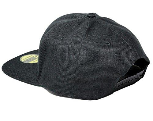 MR, Snapback Cap, 5 Panel / Pureblack -