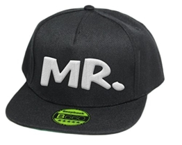 MR, Snapback Cap, 5 Panel / Pureblack -