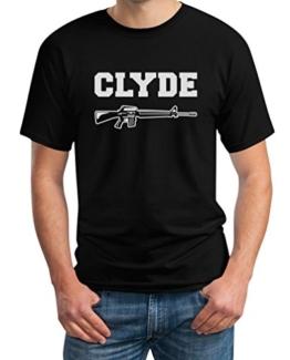 Pärchen Geschenke Bonnie und Clyde T-Shirt | Damen & Herren | Partner Verliebte ValentinstagSchwarz X-Large T-Shirt -