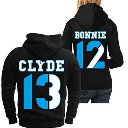 Partner Kapuzenpullover Bonnie & Clyde 13 12 (mit Rückendruck) -