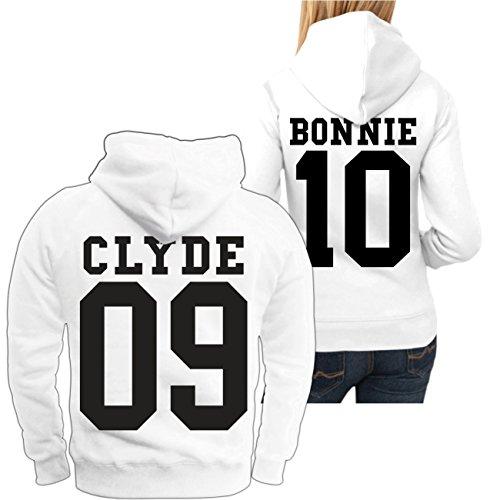 Partner Kapuzenpullover Bonnie & Clyde BLACK (mit Rückendruck) -