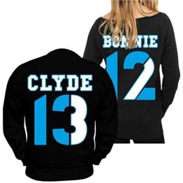 Partner Pullover Bonnie & Clyde 13 12 (mit Rückendruck) -
