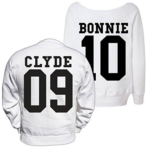 Partner Pullover Bonnie & Clyde BLACK (mit Rückendruck) -