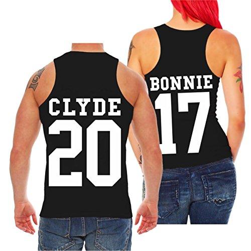 Partner Trägershirt BONNIE & CLYDE 2017 (mit Rückendruck) -