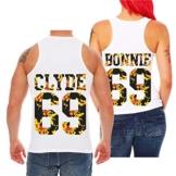 Partner Trägershirt Bonnie & Clyde Summer (mit Rückendruck) -