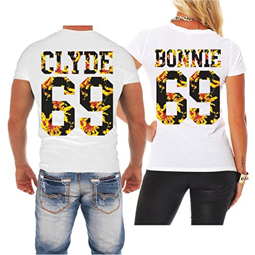 Partnershirt Bonnie & Clyde Summer (mit Rückendruck) -