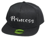 Princess, Snapback Cap, 5 Panel / Pureblack -