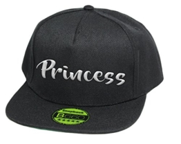 Princess, Snapback Cap, 5 Panel / Pureblack -