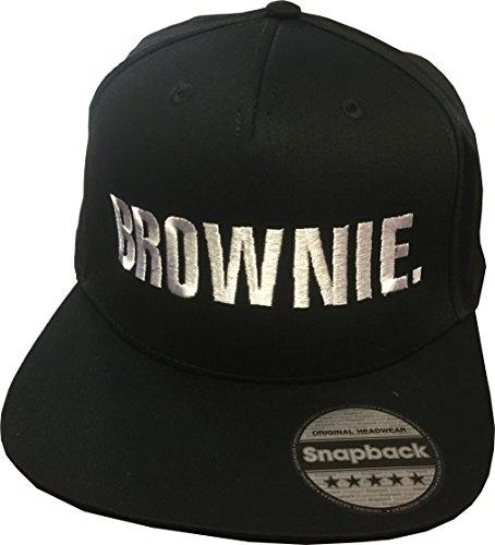 Snapback bestickt mit Motiv BLONDIE & BROWNIE in weißer Schrift Stickerei Partner-Cap für Sie & Ihn (BROWNIE.) -