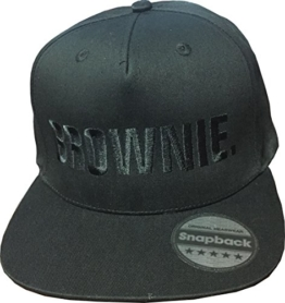 Snapback Cap bestickt | KING & QUEEN | BLONDIE. & BROWNIE. | PRINCE & PRINCESS | Basecap - Mütze - Cappy (BROWNIE. - schwarz) -