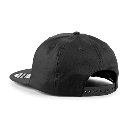 Snapback Cap bestickt | KING & QUEEN | BLONDIE. & BROWNIE. | PRINCE & PRINCESS | Basecap - Mütze - Cappy (BROWNIE. - schwarz) -