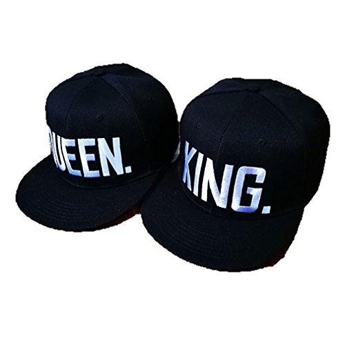 Stayeal Unisex Baseballkappen Sport Kappe Mit Weiss Queen und King Muster ,Queen -