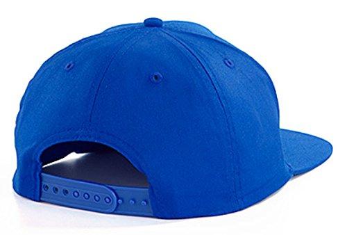 TRVPPY 5 Panel Snapback Cap Modell BLONDIE, Weiß-Royalblau, B610 -