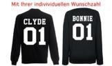 TRVPPY Damen Pullover Sweater Modell BONNIE Wunschazahl, Schwarz, L -