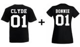 TRVPPY Damen T-Shirt Modell BONNIE Farbe Schwarz Größe S -