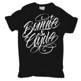 WUNSCHZAHL Bonnie & Clyde WHITE (Rückendruck mit Wunschzahl) -