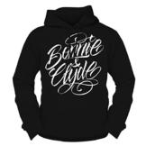 WUNSCHZAHL Männer und Herren Kapuzenpullover Bonnie & Clyde WHITE (Rückendruck mit Wunschzahl) -