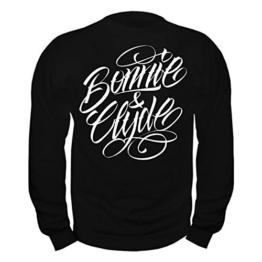 WUNSCHZAHL Männer und Herren Pullover Bonnie & Clyde WHITE (Rückendruck mit Wunschzahl) -