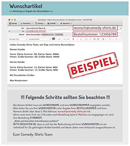 Comedy Shirts - WUNSCH - Herren Hoodie - Grau / Schwarz Gr. L -